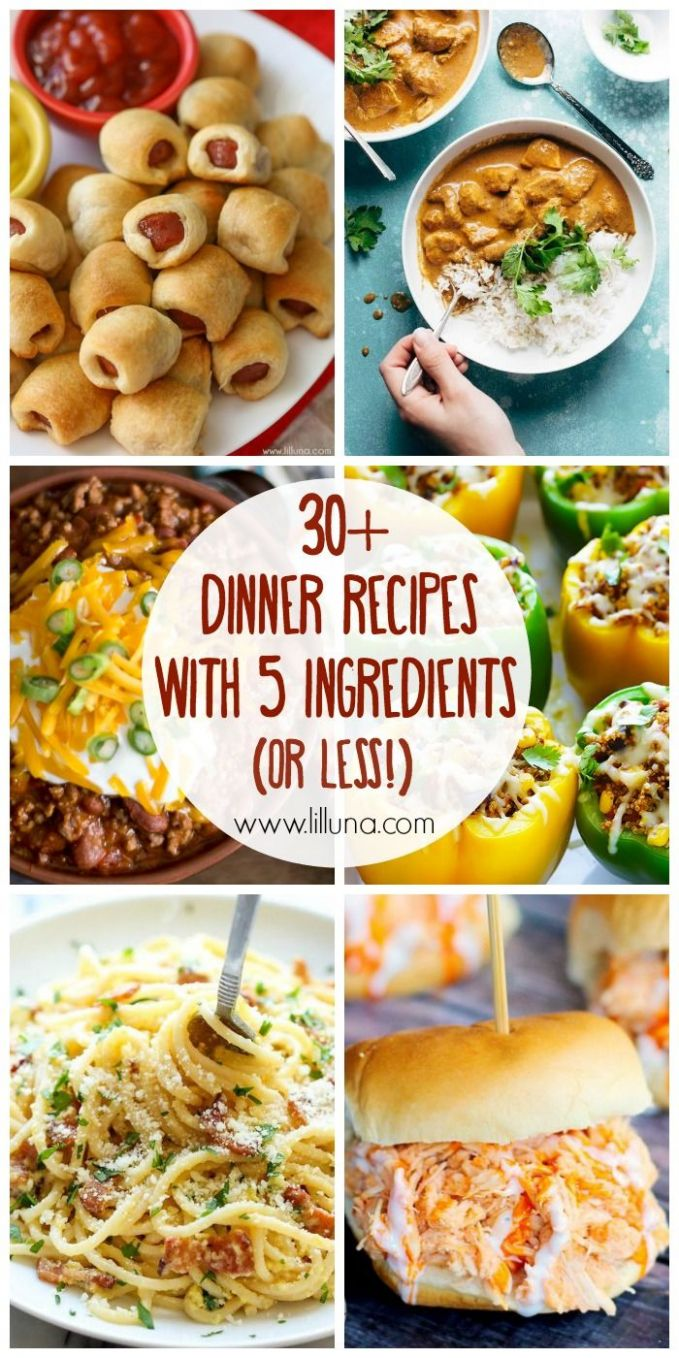 10+ 10 Ingredient (or less!) Dinner Recipes | Fast dinner recipes ..