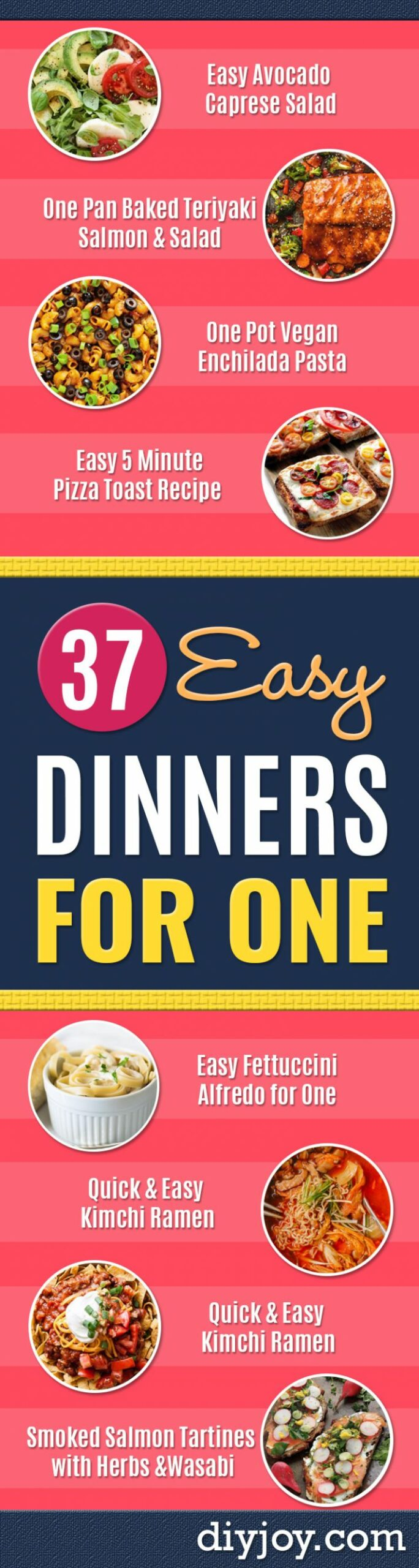 10 Easy Dinners for One - Recipes Cooking For One Person