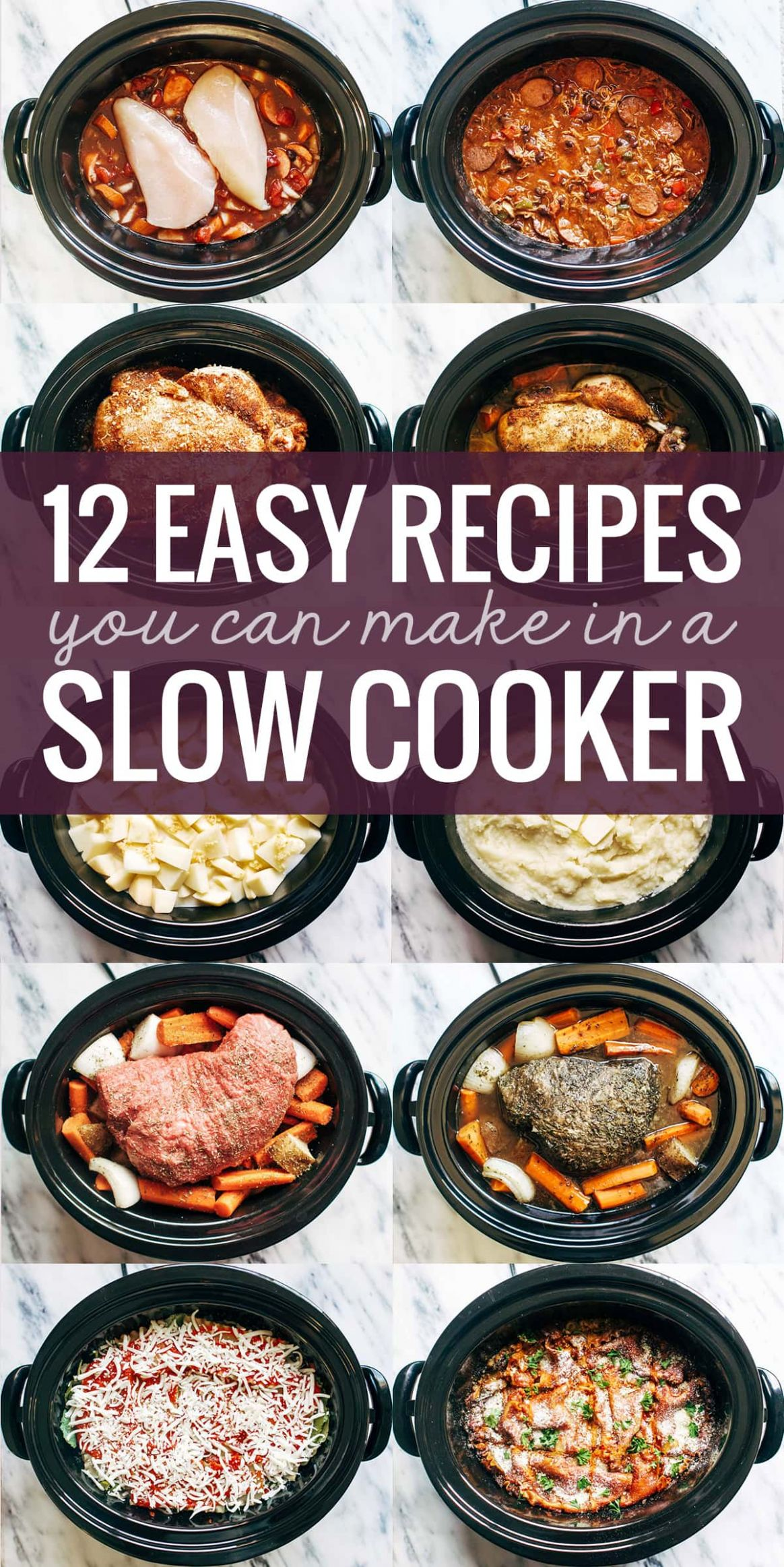 10 Easy Recipes You Can Make in a Slow Cooker - Pinch of Yum - Easy Recipes Crock Pot