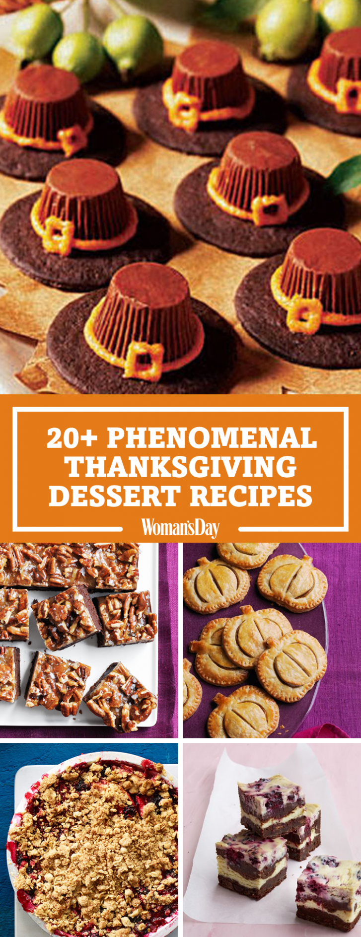 10+ Easy Thanksgiving Desserts - Best Recipes for Thanksgiving Sweets - Recipes Dessert Thanksgiving