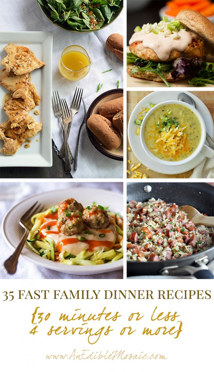 10 Fast Family Dinner Recipes {10 Minutes or Less, 10 Servings or ..