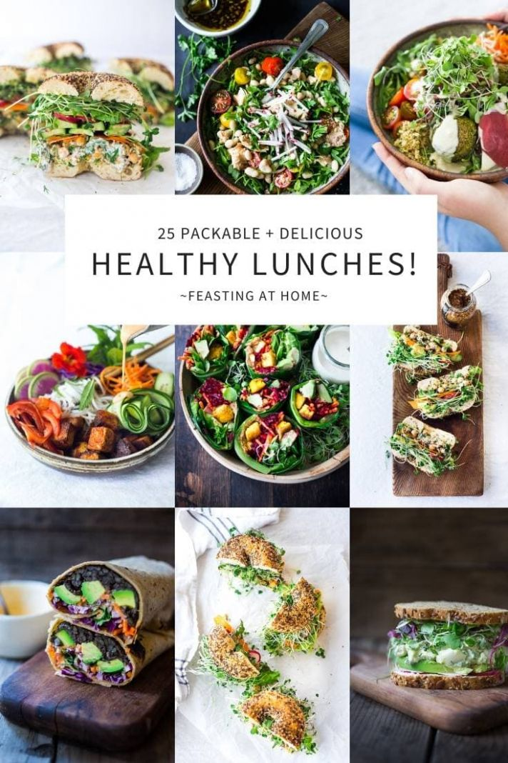 10 Healthy Delicious Lunches! | Feasting At Home - Simple Recipes Healthy Eating