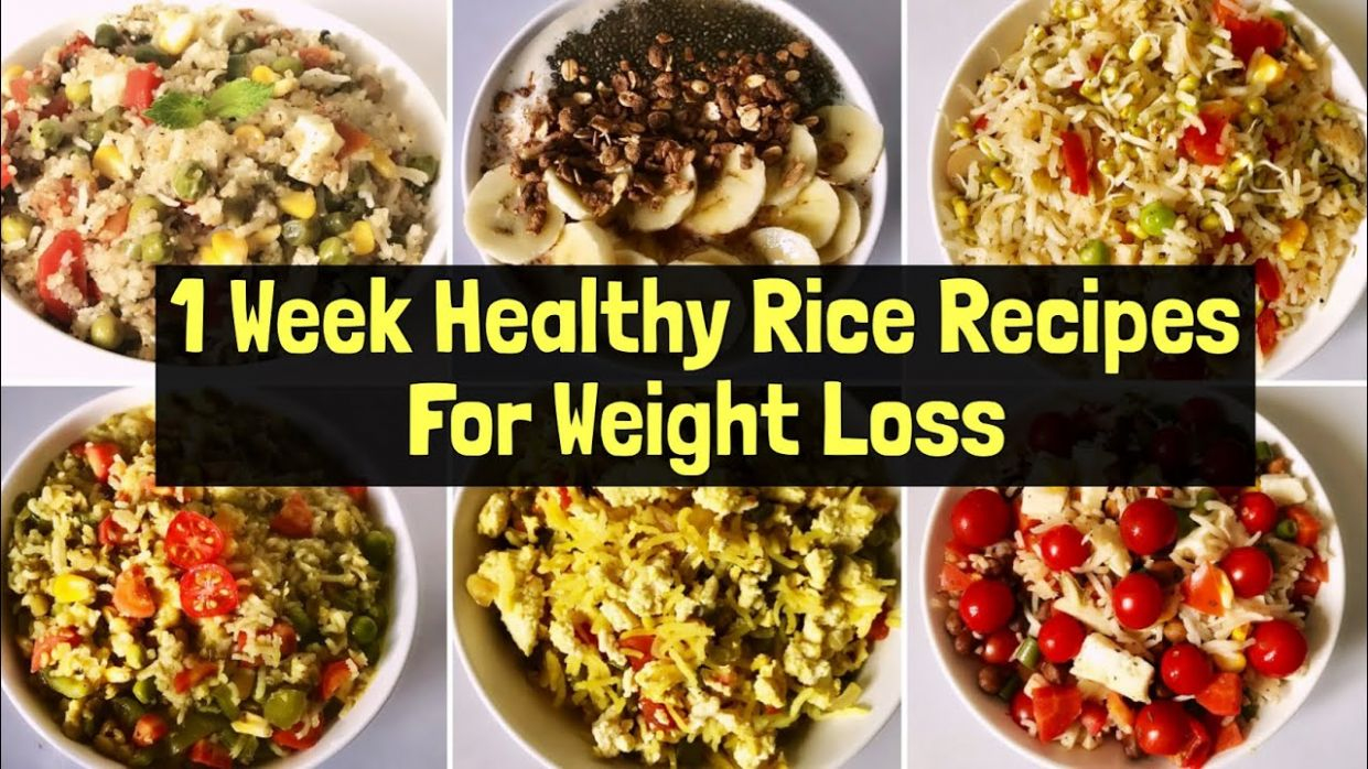 10 Healthy Rice Recipes For Weight Loss | Quick & Easy Vegetarian Lunch/  Dinner Ideas | Hindi - Weight Loss Quick Recipes