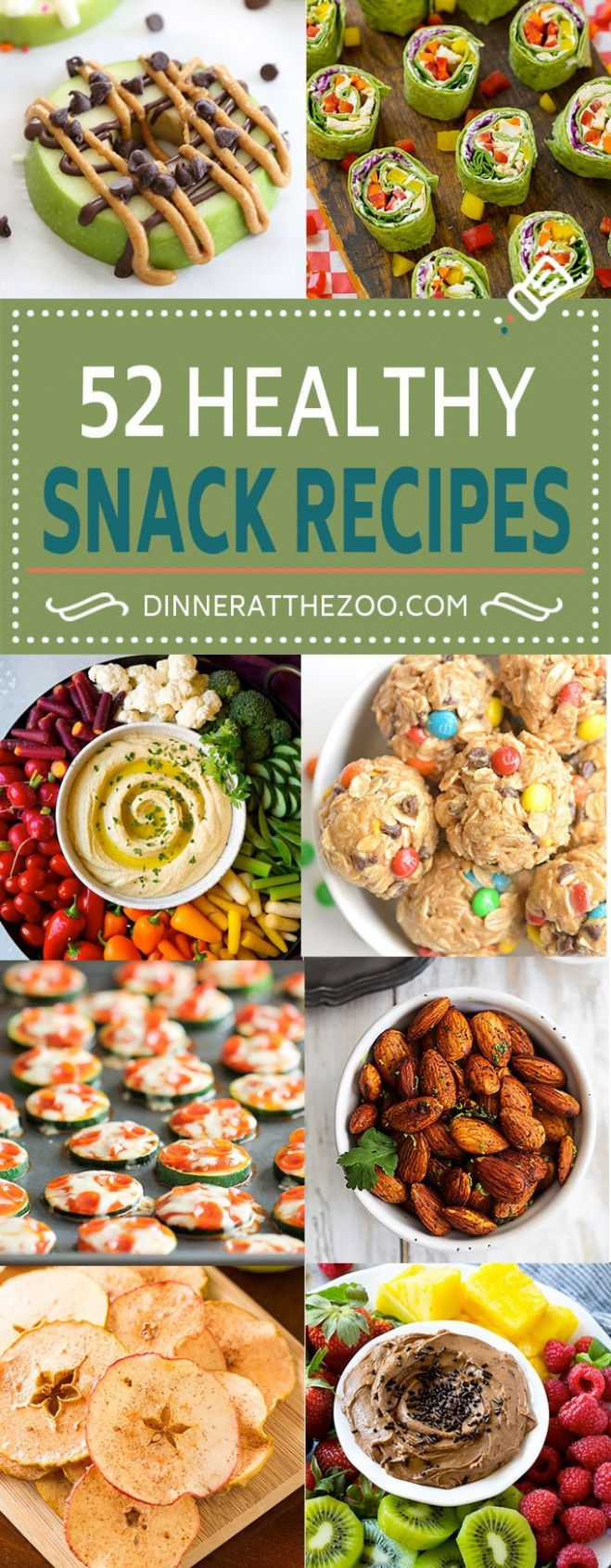 10 Healthy Snack Recipes - Dinner at the Zoo - Healthy Recipes Snacks