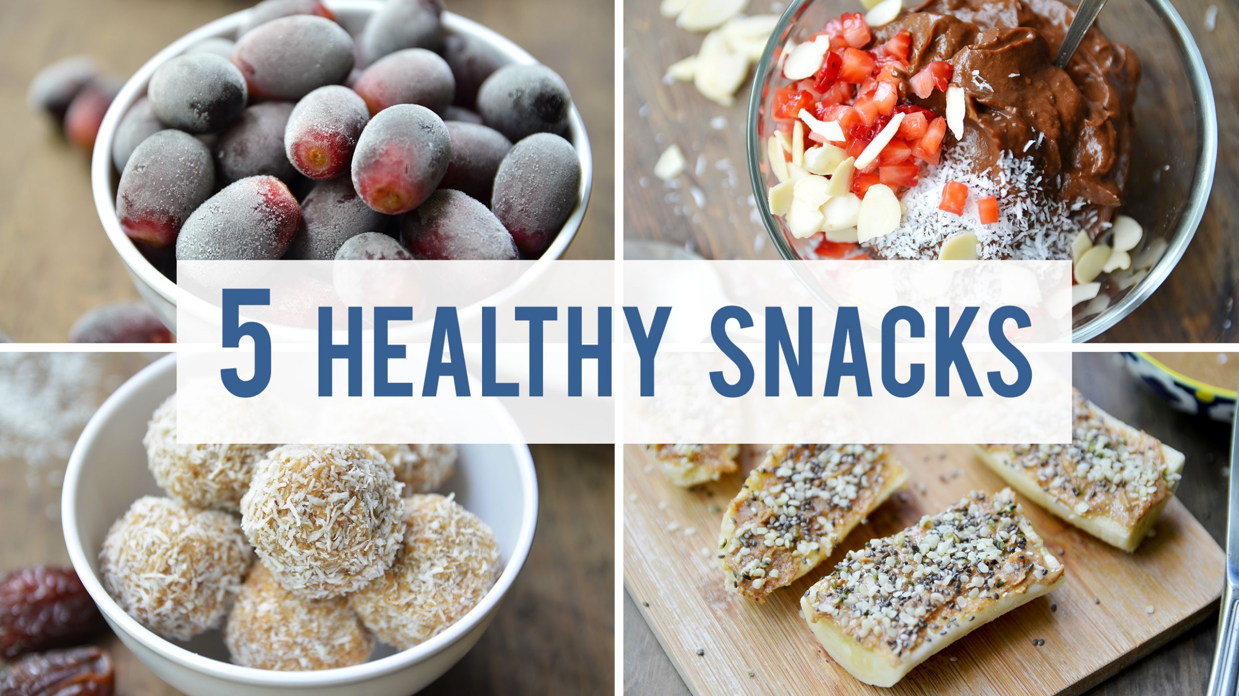 10 Healthy Snacks For Your Sweet Tooth - Healthy Recipes Snacks