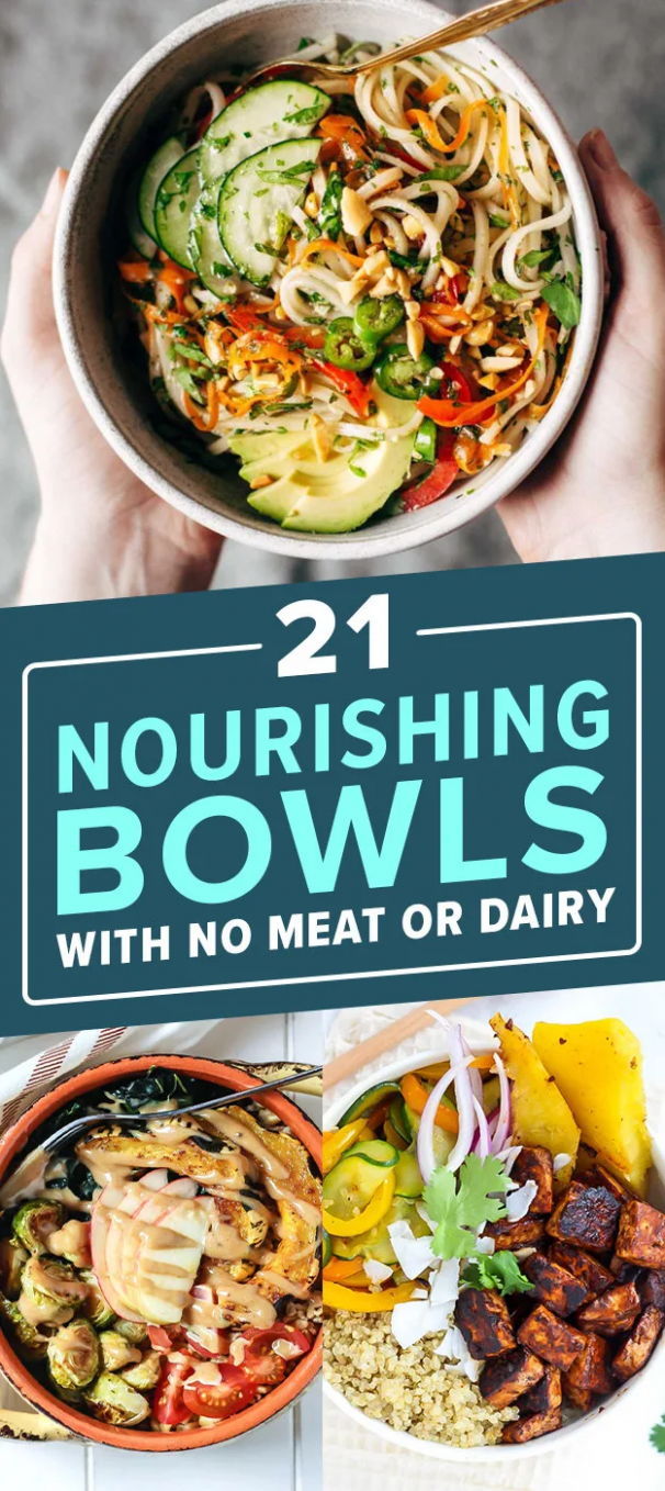 10 Hearty Nourishing Bowls With No Meat Or Dairy | Healthy recipes ..