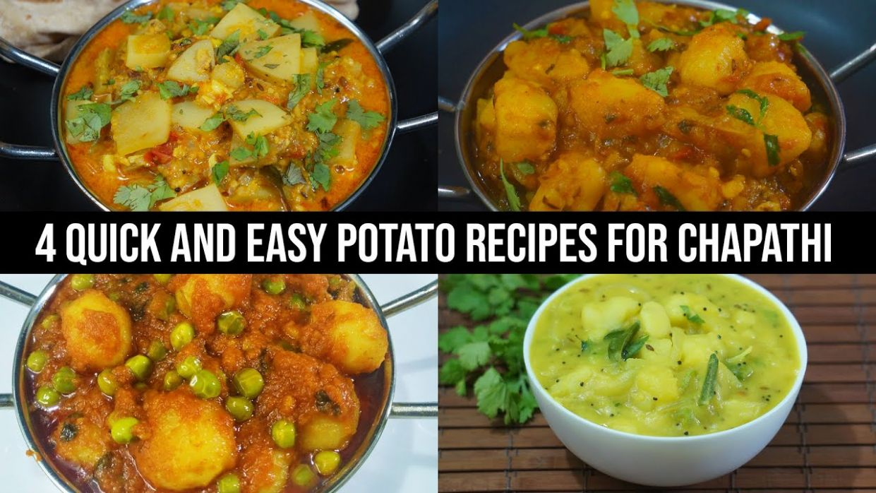 10 Quick and Easy Potato Recipes for Chapathi - Aloo Recipes For Chapathi - Potato Recipes For Chapathi