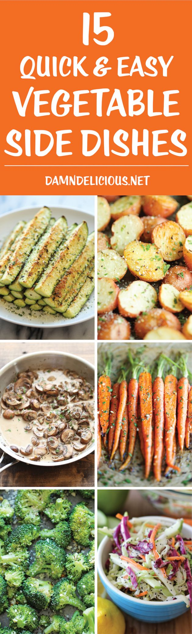 10 Quick and Easy Vegetable Side Dishes - Damn Delicious - Vegetable Recipes As Side Dish