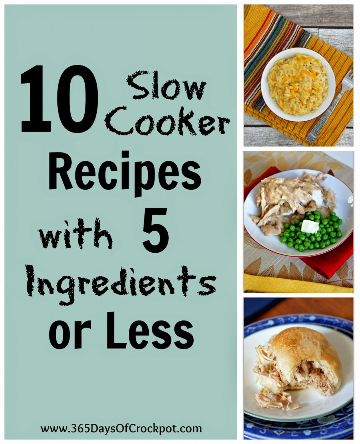 10 Slow Cooker Recipes with 10 ingredients or less! - 3610 Days of ..