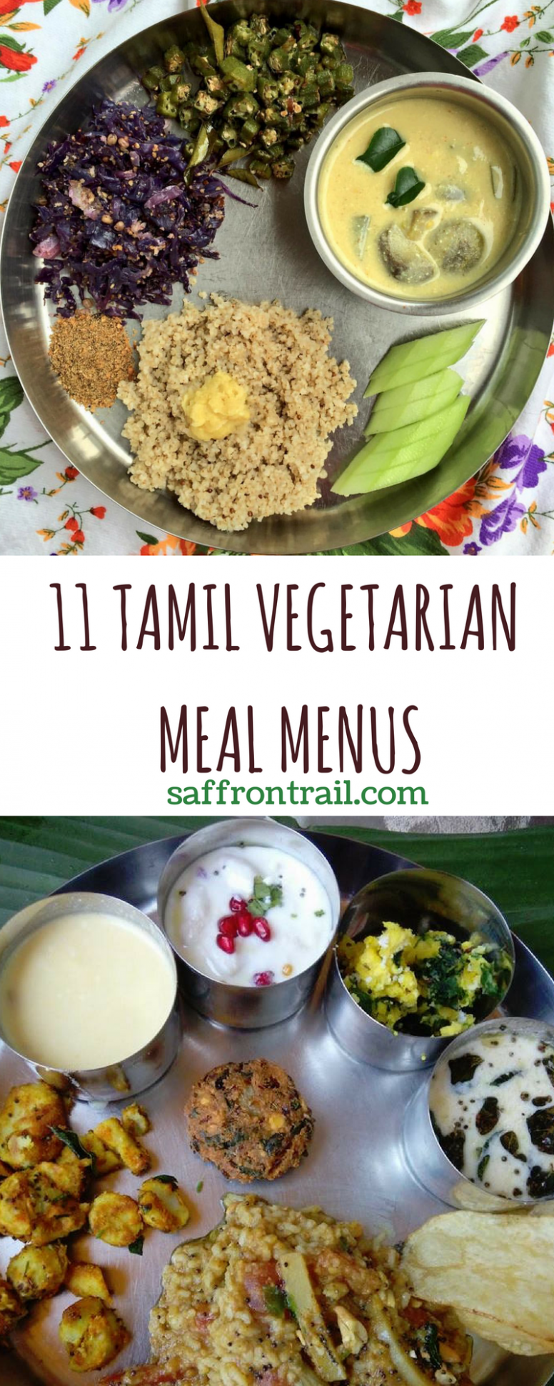10 Traditional Tamil Vegetarian Lunch Menus | Indian food recipes ...