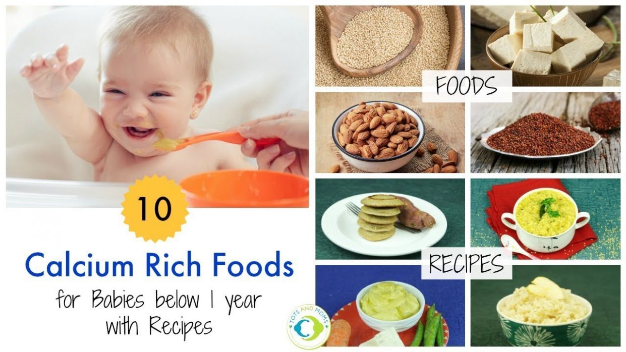 100 Calcium Rich Foods & Recipes for Babies below 10 year - Food Recipes For Babies