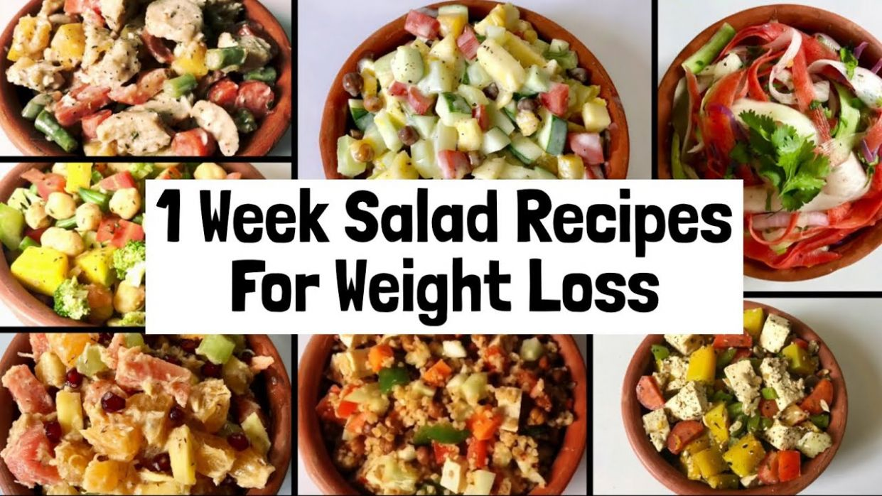 100 Healthy & Easy Salad Recipes For Weight Loss | 10 week Veg Lunch & Dinner  Ideas to Lose Weight - Salad Recipes For Weight Loss Veg