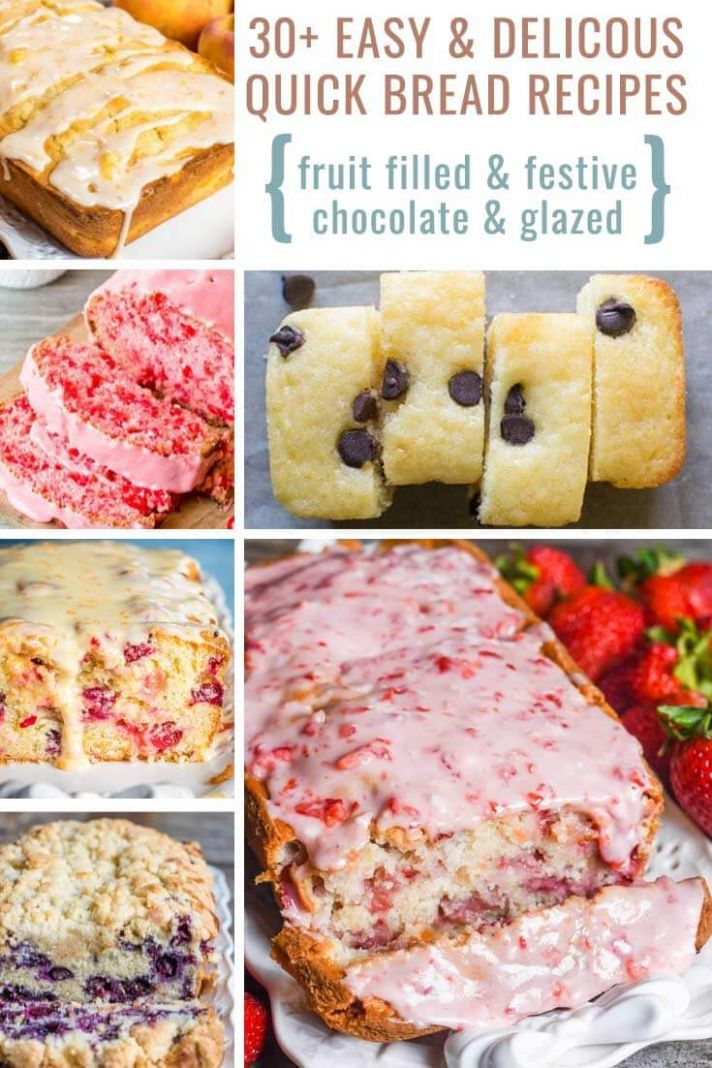 11+ Easy and Delicious Quick Bread Recipes No Kneading, No Yeast! - Food Recipes Quick Breads