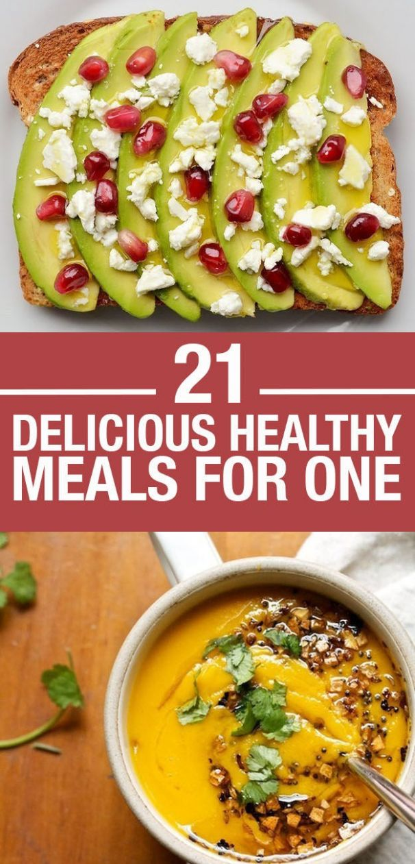 11 Easy And Healthy Meals For One - Recipes Cooking For One