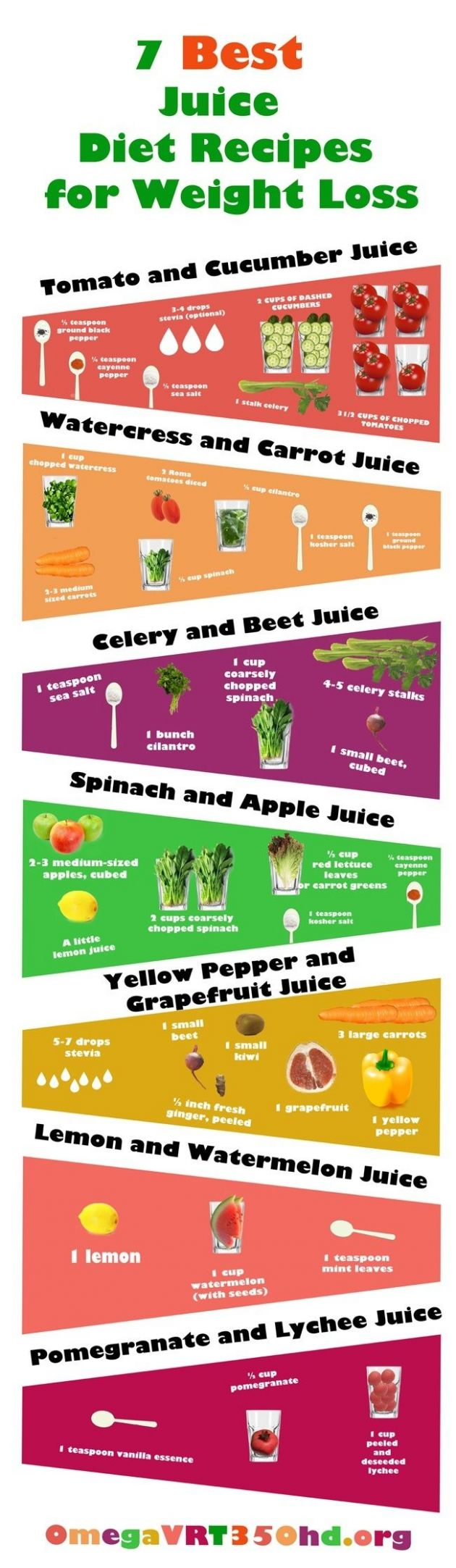 11 Easy and Tasty Juicing Recipes for Weight Loss (Infographic ..
