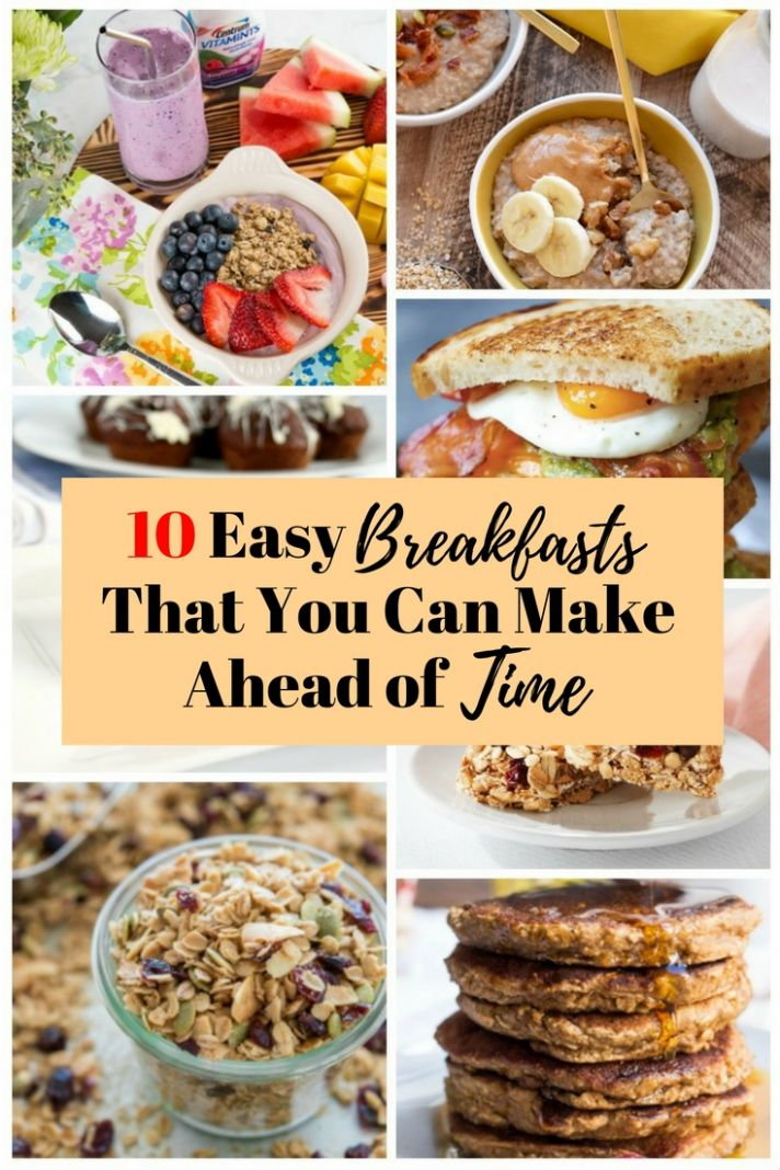 11 Easy Breakfasts That You Can Make Ahead of Time - The Budget Diet - Healthy Recipes You Can Make Ahead Of Time