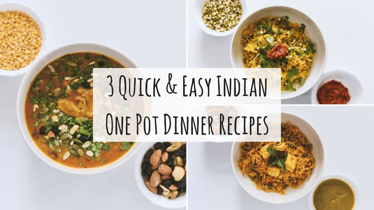 11 Easy One Pot Indian Dinner Recipes| Indian Veg Dinner Recipes|11 Indian  Dinner For Weight Loss - Dinner Recipes One Pot