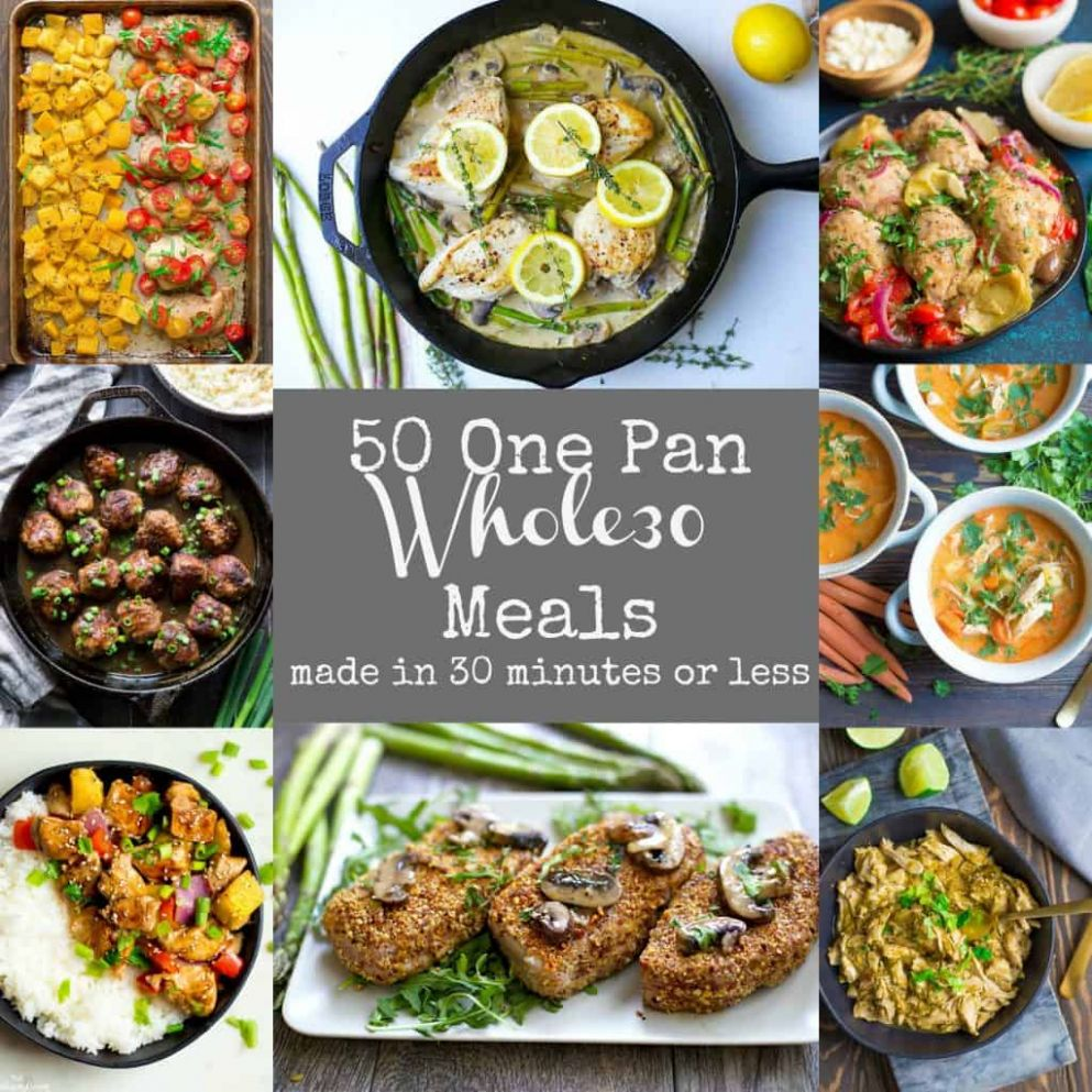 11 Easy Whole11 One Pan Meals - Wholesomelicious - Easy Recipes For One