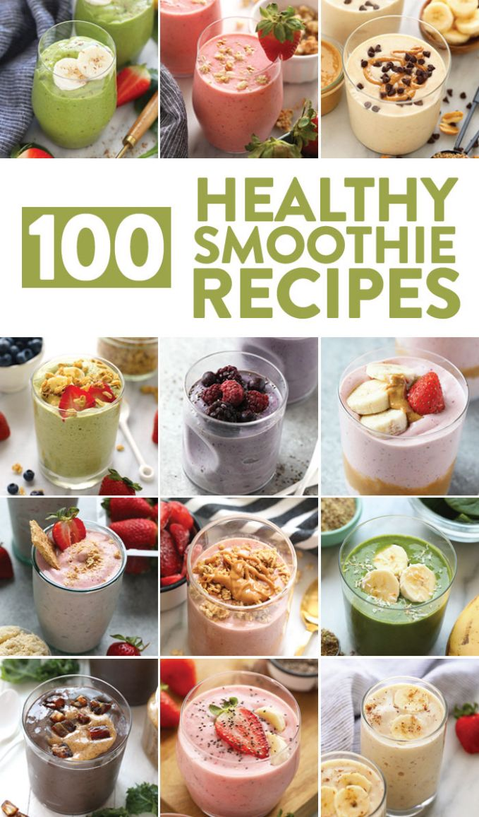 11+ Healthy Smoothie Recipes - Fit Foodie Finds - Healthy Recipes Drinks