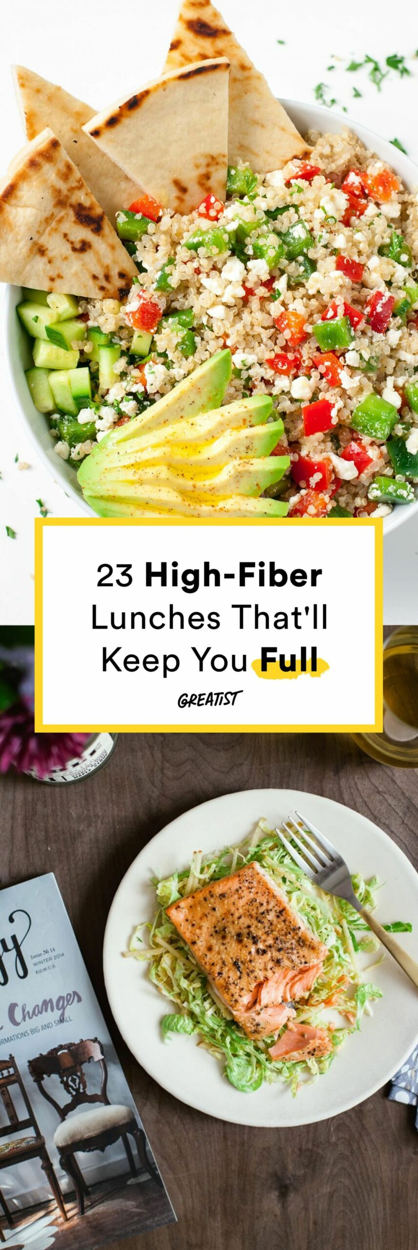 11 High-Fiber Lunches That'll Keep You Full 'Til Dinner | High ...