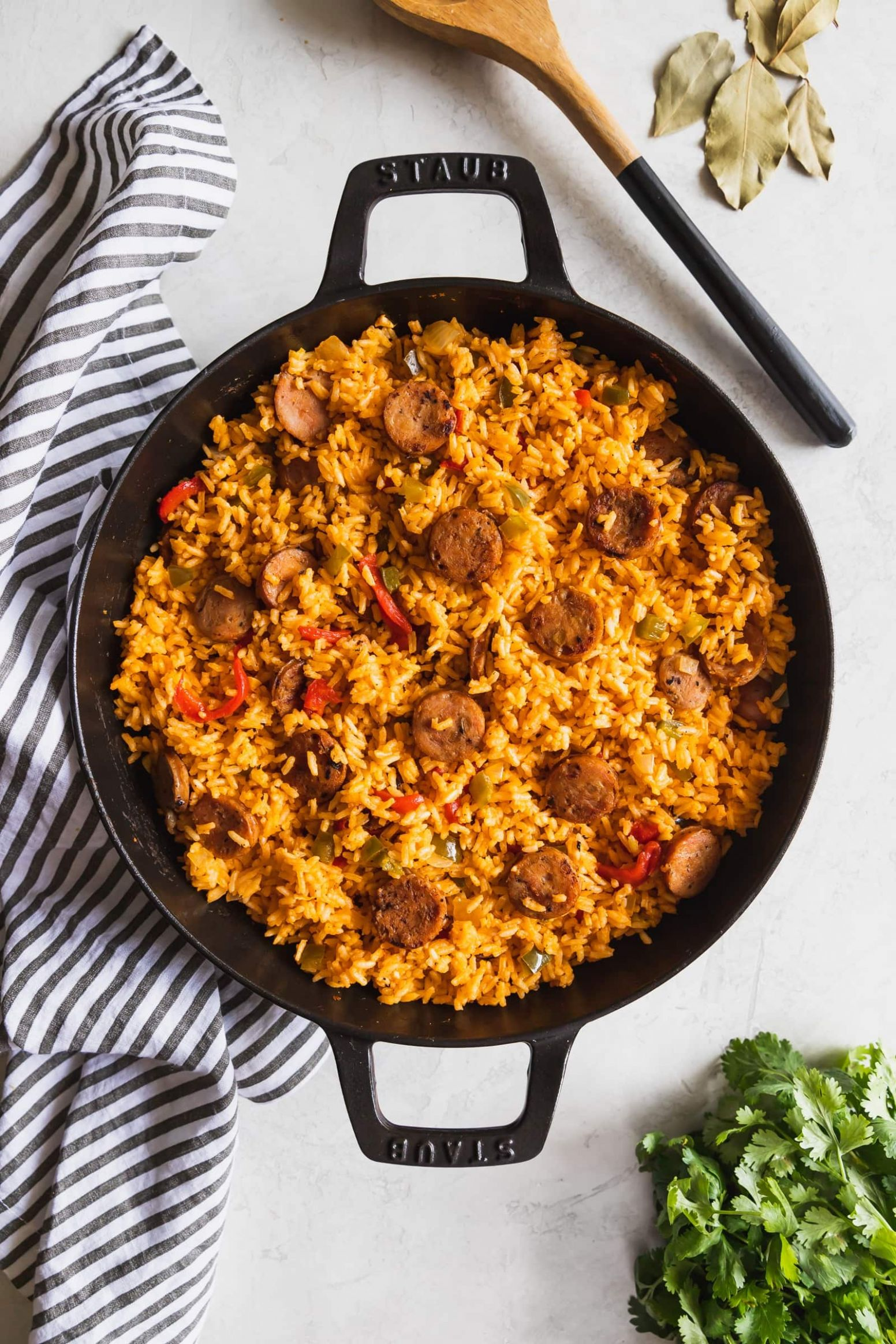 11-Minute Arroz Con Salchicha (Cuban-Style Yellow Rice + Sausage) - Recipes Rice Sausage