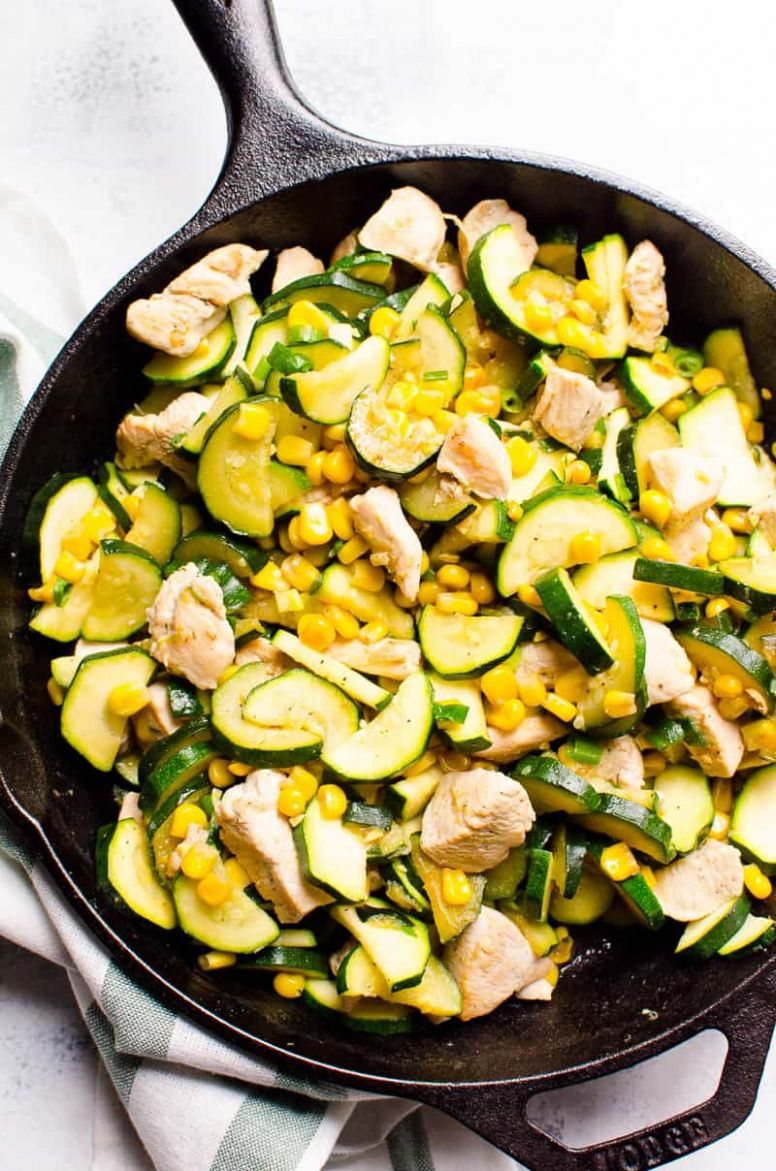 11 Minute Chicken Zucchini and Corn (Video) - iFOODreal - Healthy ..