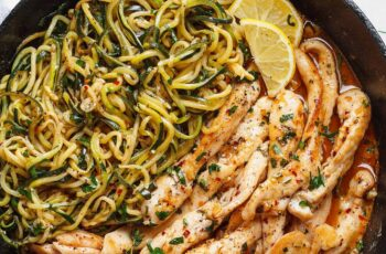 11-Minute Cowboy Butter Chicken with Zucchini Noodles