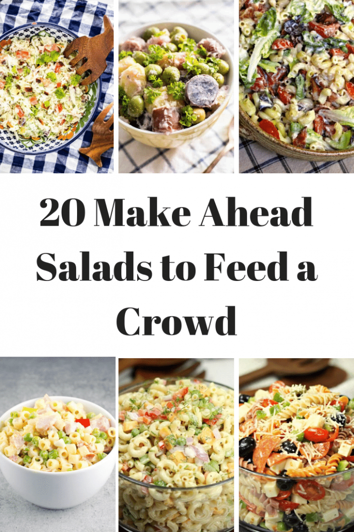 11+ of the BEST Make Ahead Salads for a Crowd- Fantabulosity - Summer Recipes To Feed A Crowd