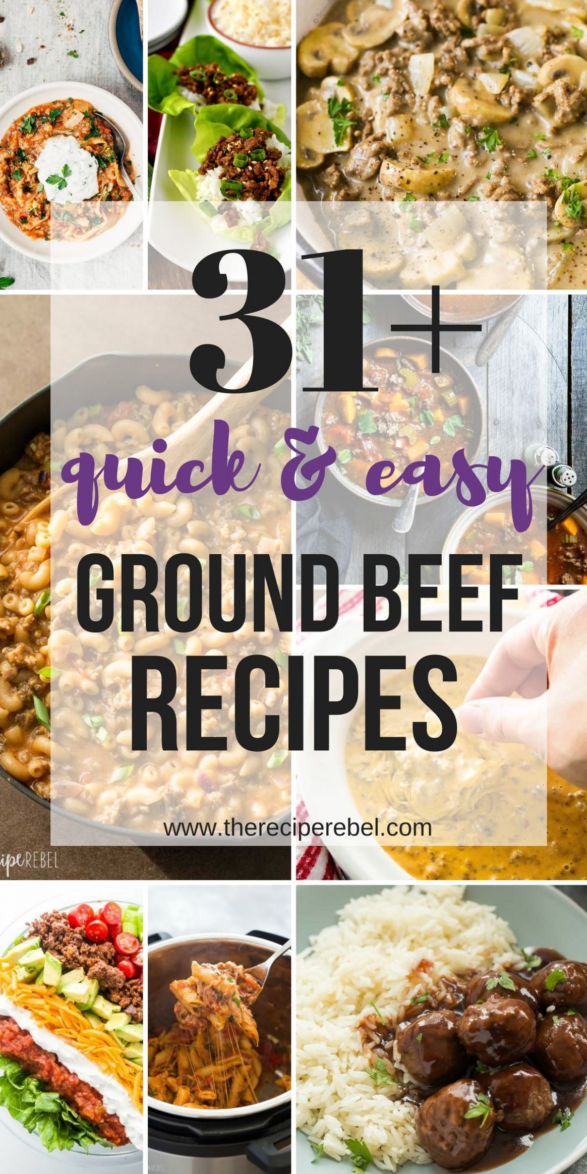 11+ Quick Ground Beef Recipes -- easy, family-friendly dinner ideas - Easy Recipes Made With Hamburger