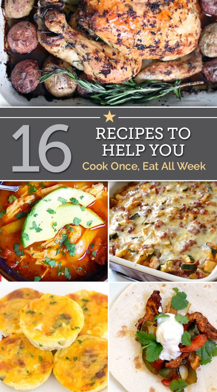 11 Recipes To Help You Cook Once, Eat All Week - thegoodstuff - Recipes Cooking Recipes