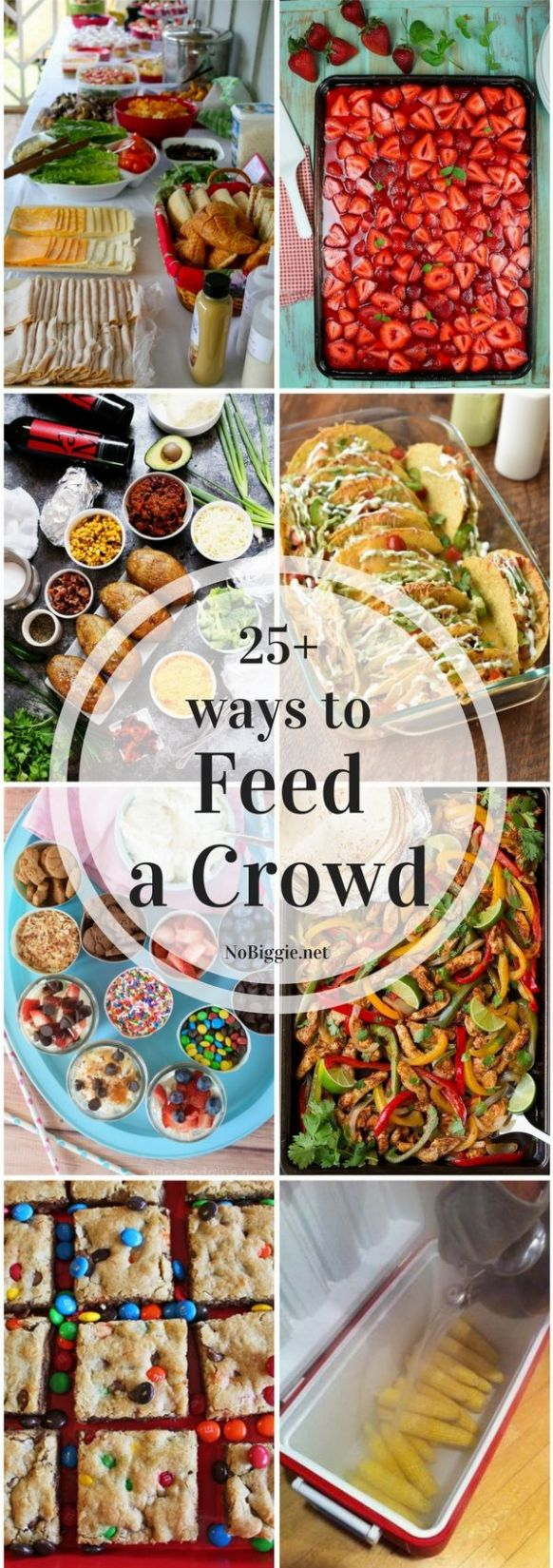 11+ Ways to Feed a Crowd | Food for a crowd, Party food on a ..