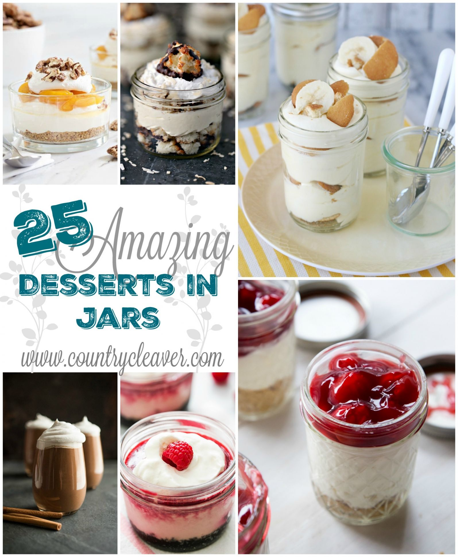 12 Amazing No Bake Desserts In Jars - Country Cleaver - Dessert Recipes Jars