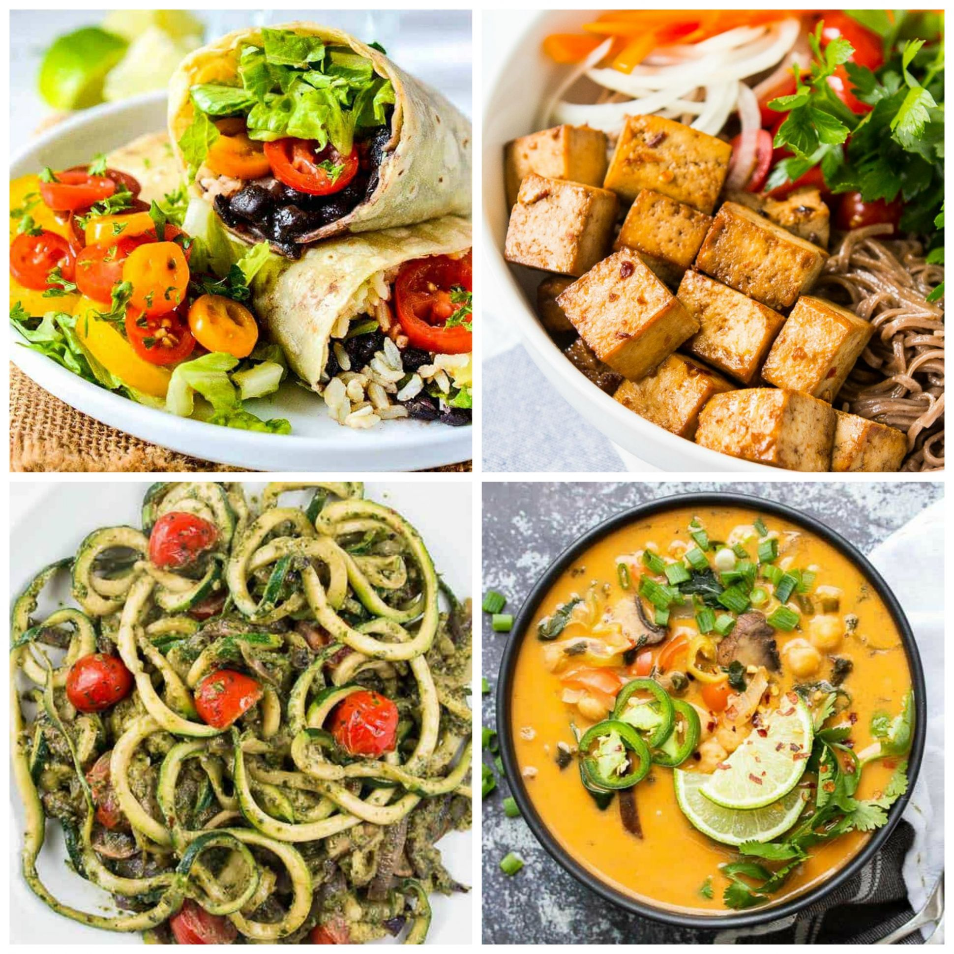12 AMAZING Vegan Meals for Weight Loss (Gluten-Free & Low-Calorie) - Weight Loss Lunch Recipes Vegetarian