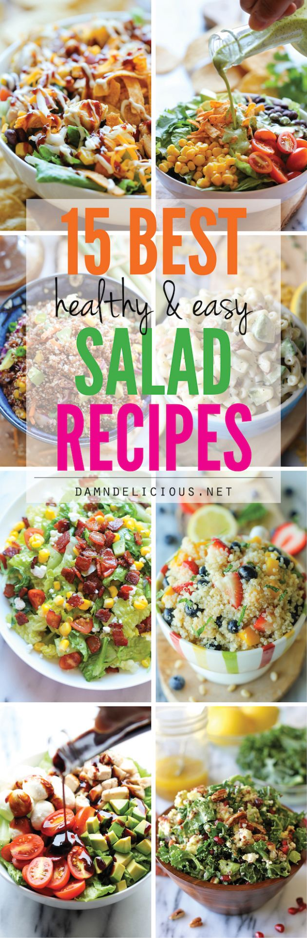12 Best Healthy and Easy Salad Recipes - Damn Delicious - Salad Recipes Quick And Easy