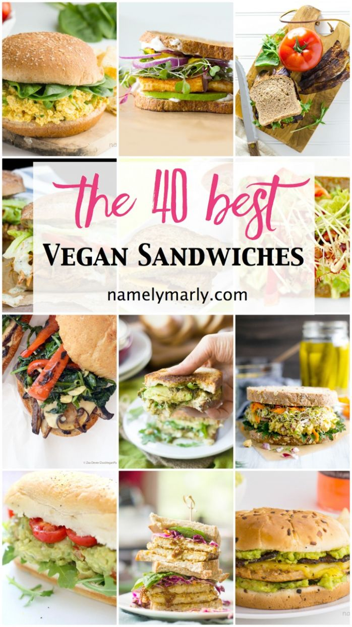 12 Best Vegan Sandwiches - Perfect for Easy Lunches - Namely Marly - Recipes Vegetarian Sandwiches