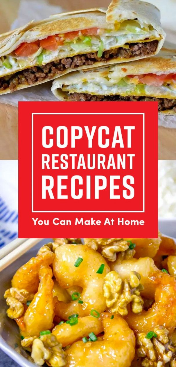 12 Chain Restaurant Foods You Can Make At Home - Food Recipes To Make At Home