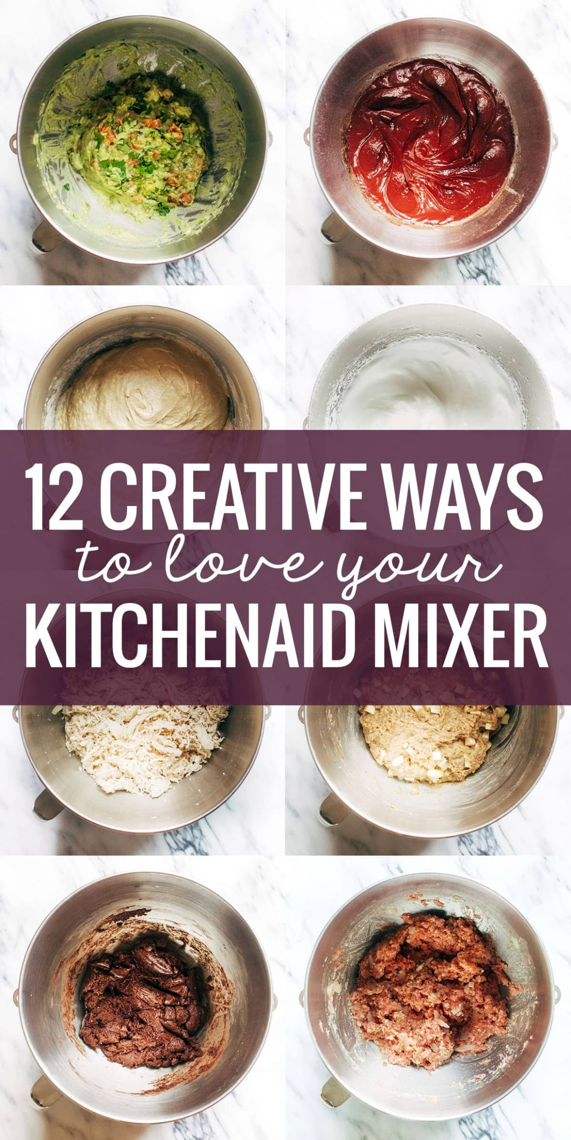 12 Creative Ways to Use A KitchenAid Mixer - Pinch of Yum - Dessert Recipes Kitchenaid Mixer