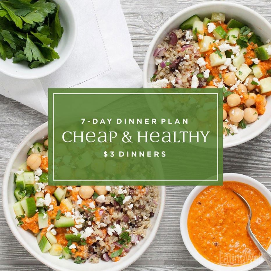 12-Day Meal Plan: Easy Cheap $12 Dinners | EatingWell - Healthy Recipes Meal Plan