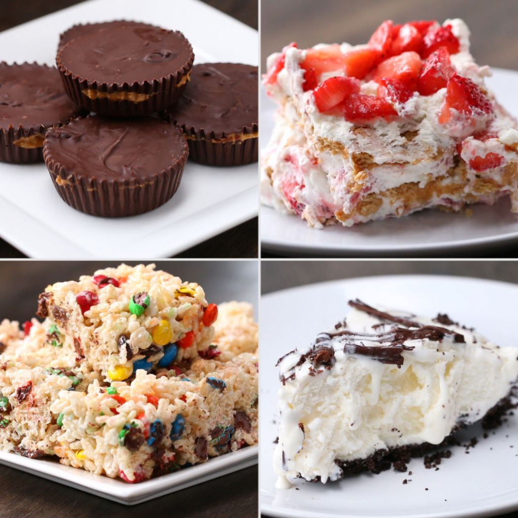 12 Easy 12-Ingredient No-Bake Desserts | Recipes - Easy Recipes Sweet