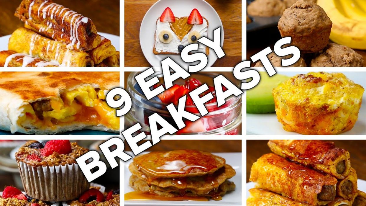 12 Easy & Delicious Breakfasts - Breakfast Recipes Youtube Video