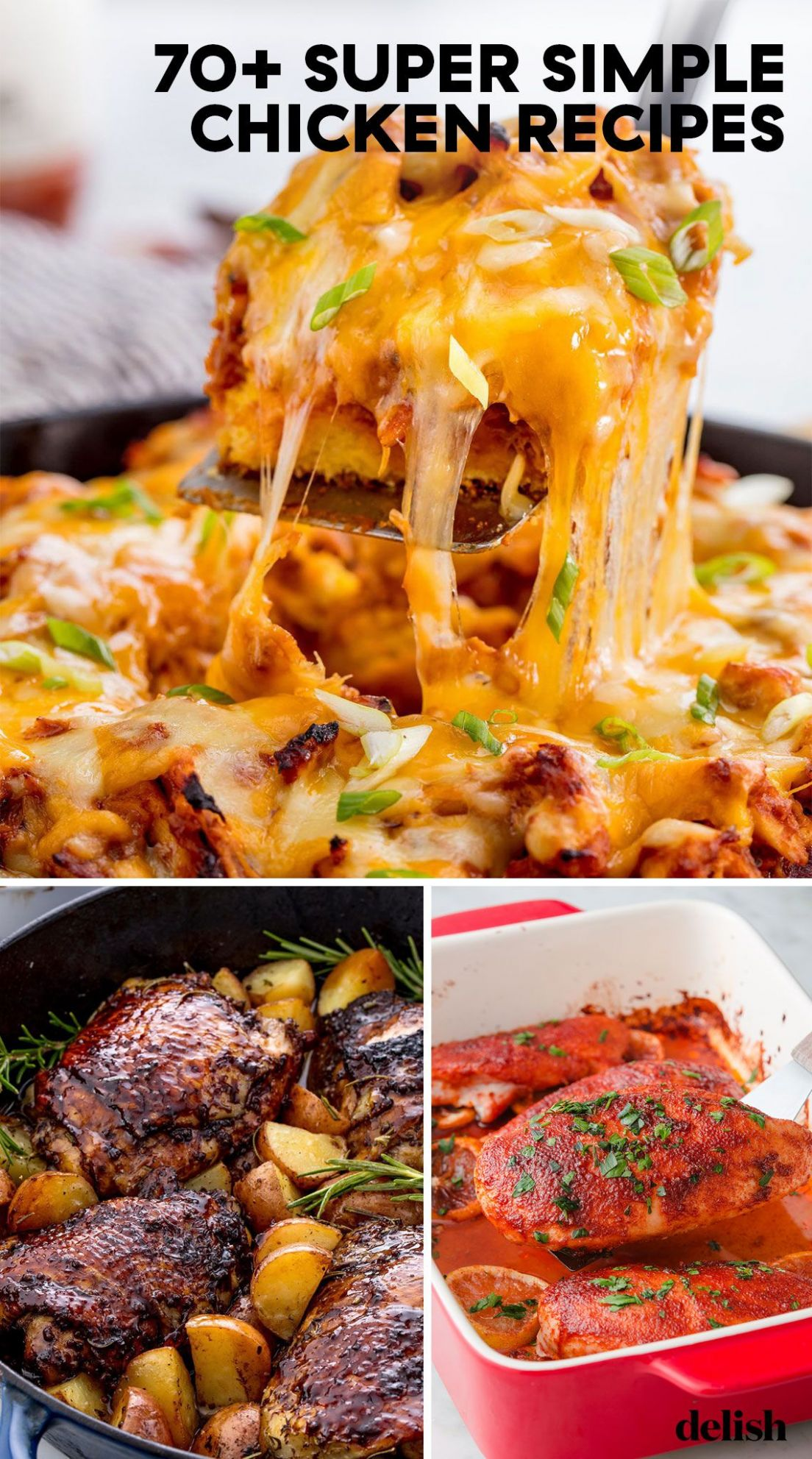 12+ Easy Chicken Dinner Recipes - Simple Ideas for Chicken Dishes - Recipes Chicken Easy