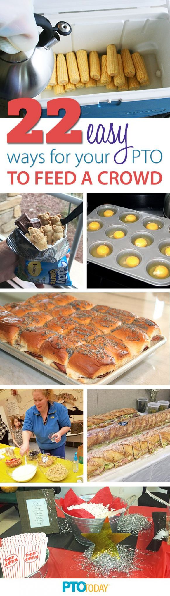 12 Easy Meal Ideas for Large Groups   Large group meals, Food for ..