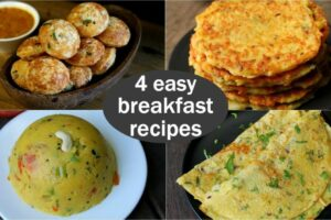 12 easy veg breakfast recipes | quick & healthy breakfast ideas | high  protein breakfast