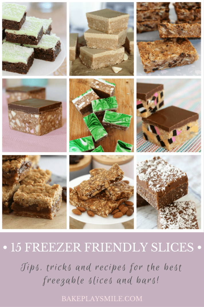 12 Freezer Friendly Slices (the very best ones!) - Bake Play Smile - Dessert Recipes You Can Freeze