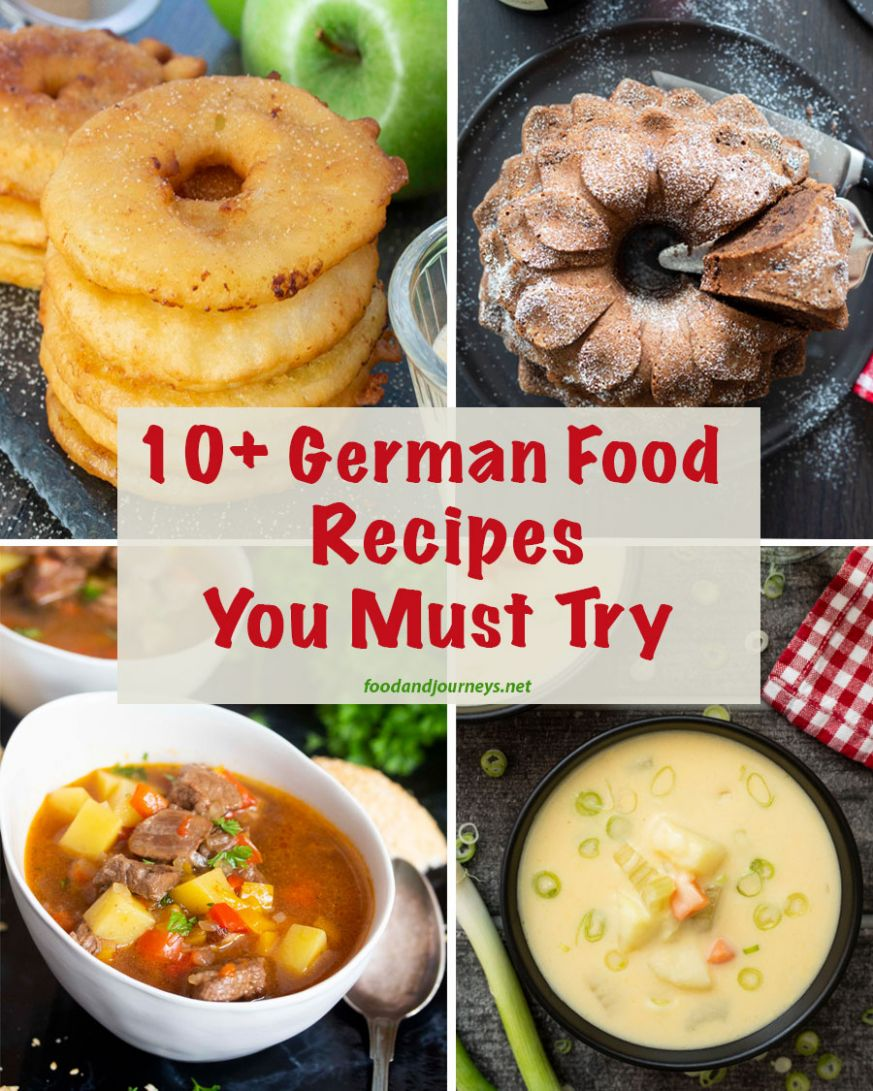 12+ German Food Recipes You Must Try | Food and Journeys - Food Recipes To Try