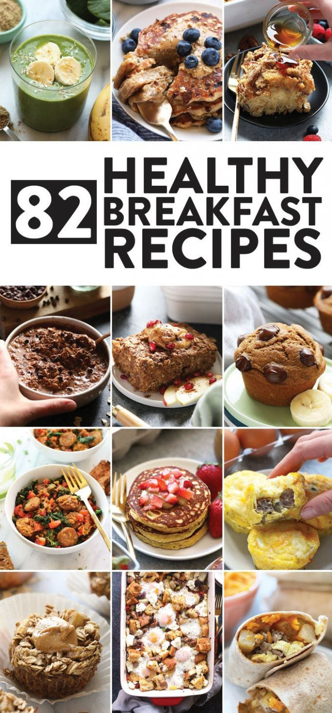 12 Healthy Breakfast Ideas sweet + savory! - Fit Foodie Finds - Breakfast Recipes Easy To Make