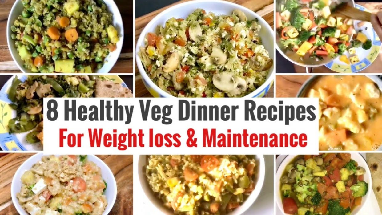 12 Healthy Vegetarian Indian Dinner Recipes | Weight loss Dinner Ideas |  High Protein & Veggies - Recipes For Weight Loss Maintenance