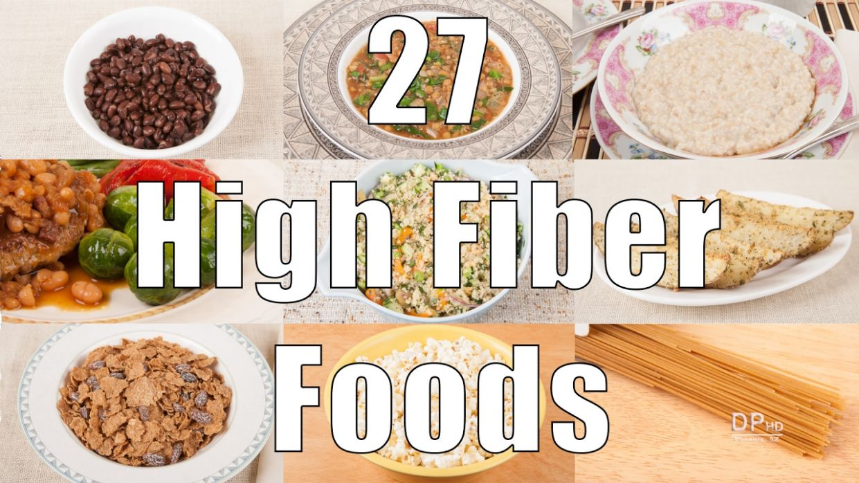 12 High Fiber Foods (12 Calorie Meals) DiTuro Productions - Dinner Recipes High In Fiber