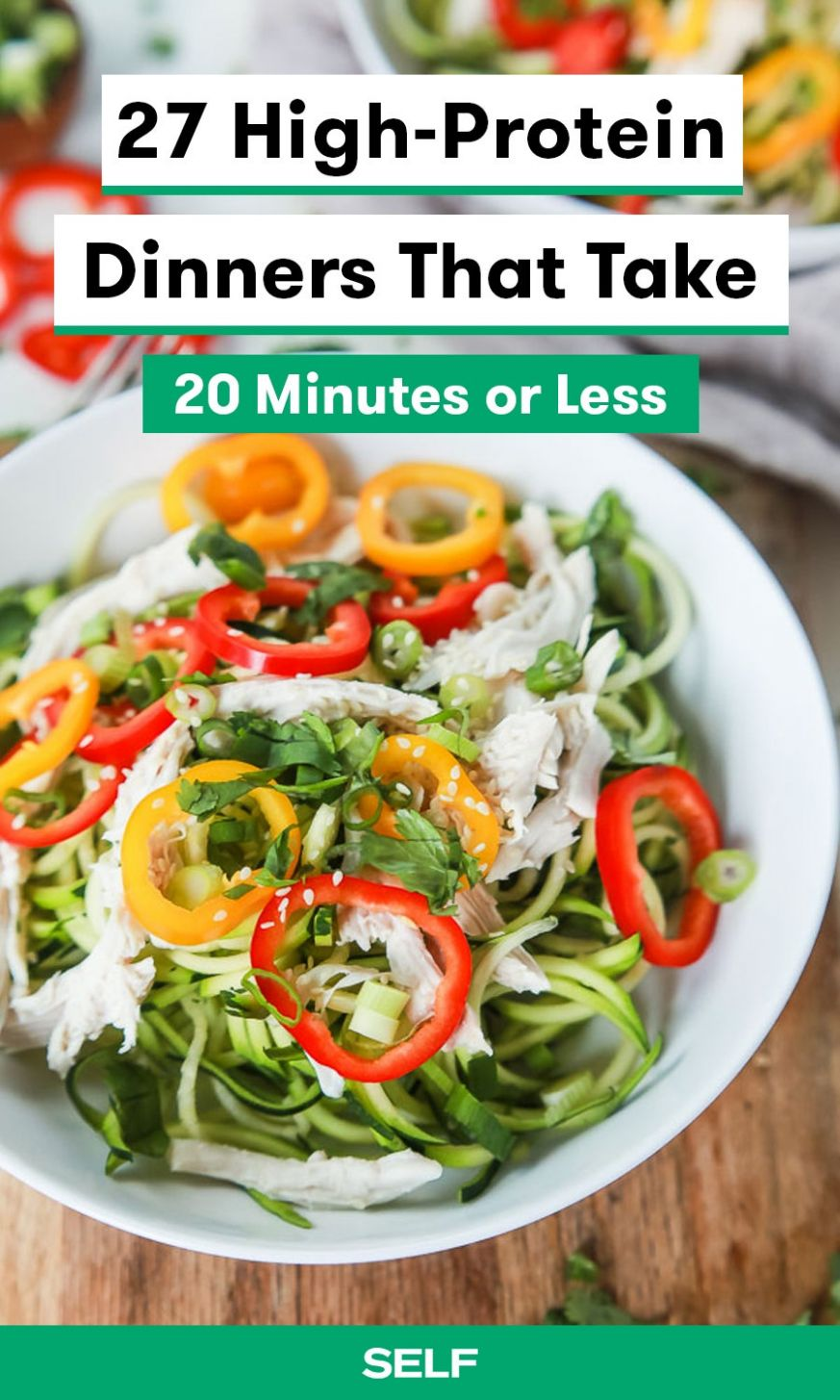 12 High-Protein Dinners You Can Make In 12 Minutes Or Less | SELF - Dinner Recipes High In Fiber