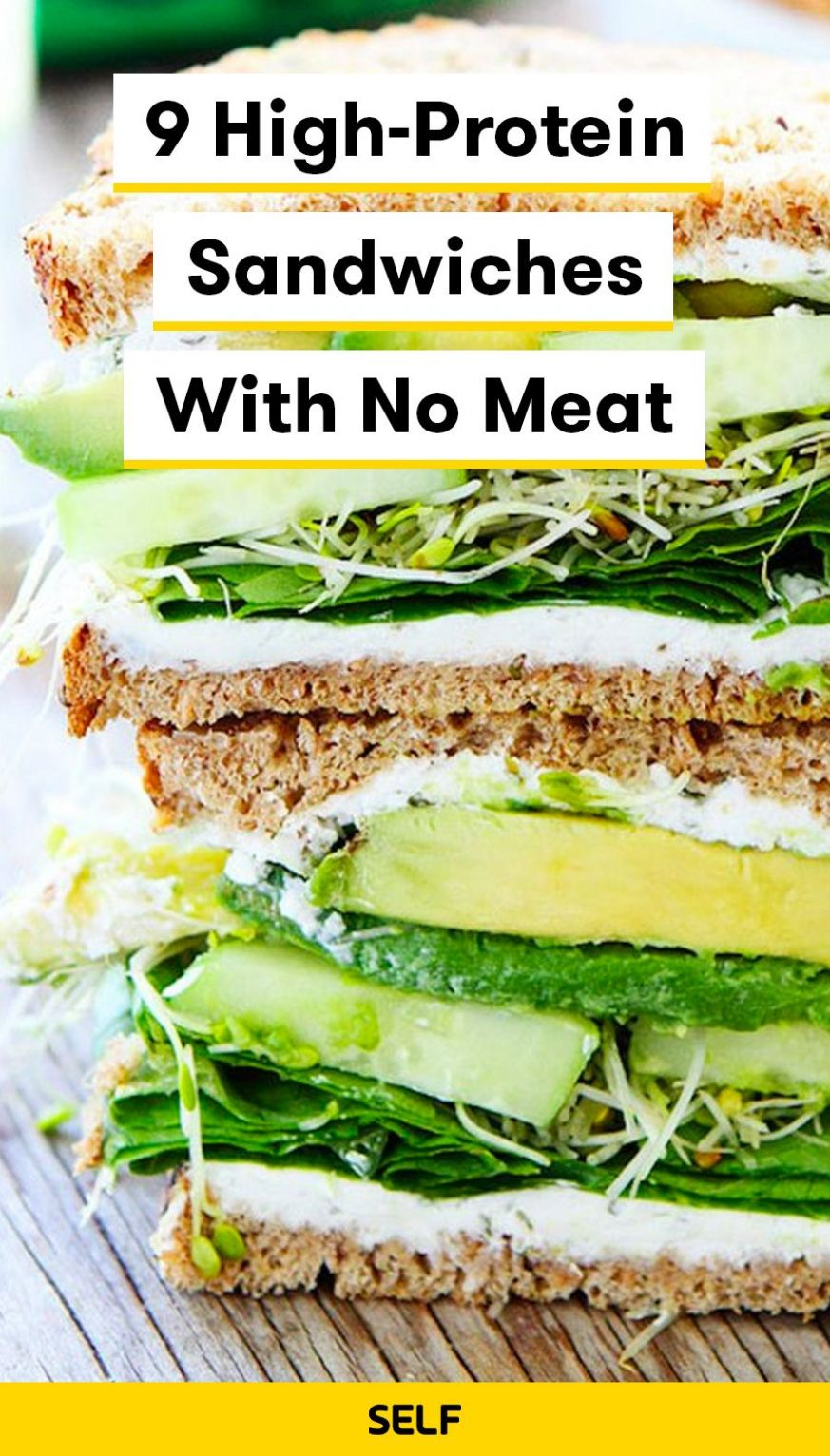 12 High-Protein Sandwiches With No Meat | High protein vegetarian ..
